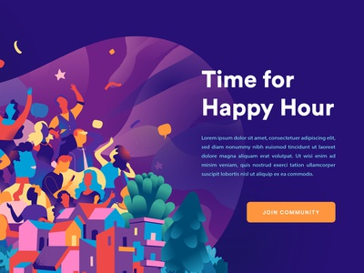 Time For Happy Hour young society social network happyness joy commnity friends fest