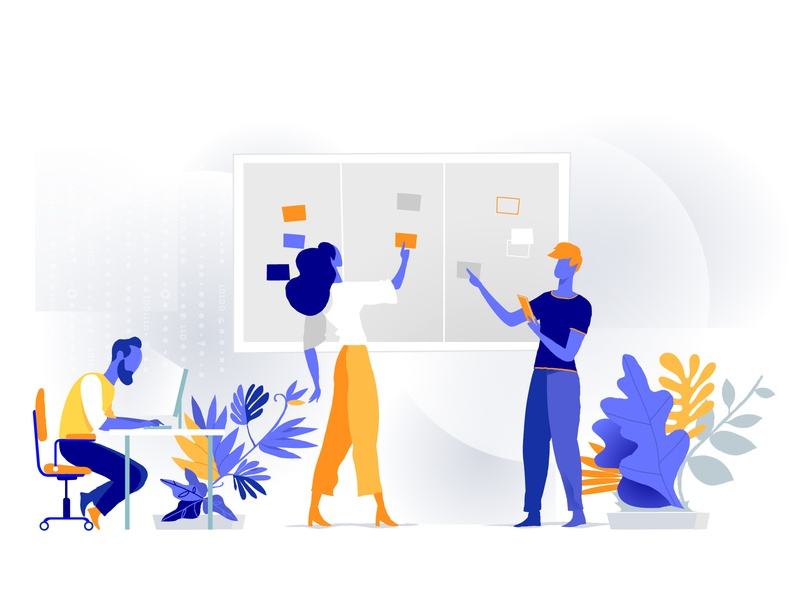 Digital Startup Workflow task management process scrum agile developement teamwork startup
