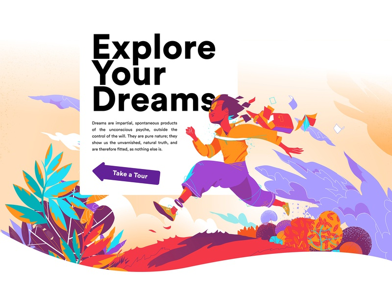 Explore Your Dreams hurca freedom creativity imagination freud jung dreams landing page