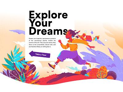 Explore Your Dreams hurca freedom creativity imagination freud jung dreams landing page