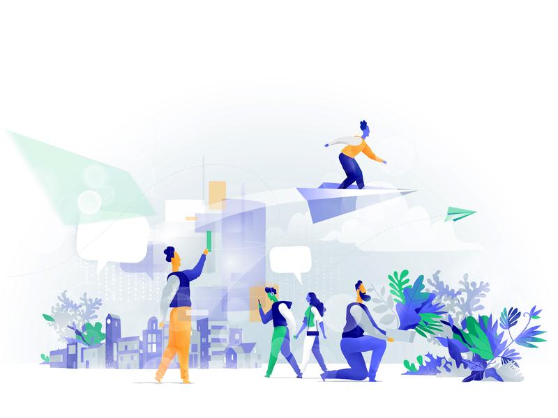 Wonderful World hurca people city augmented reality technology lifestyle