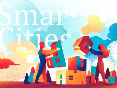 Smart Cities couple future growth building people smart city