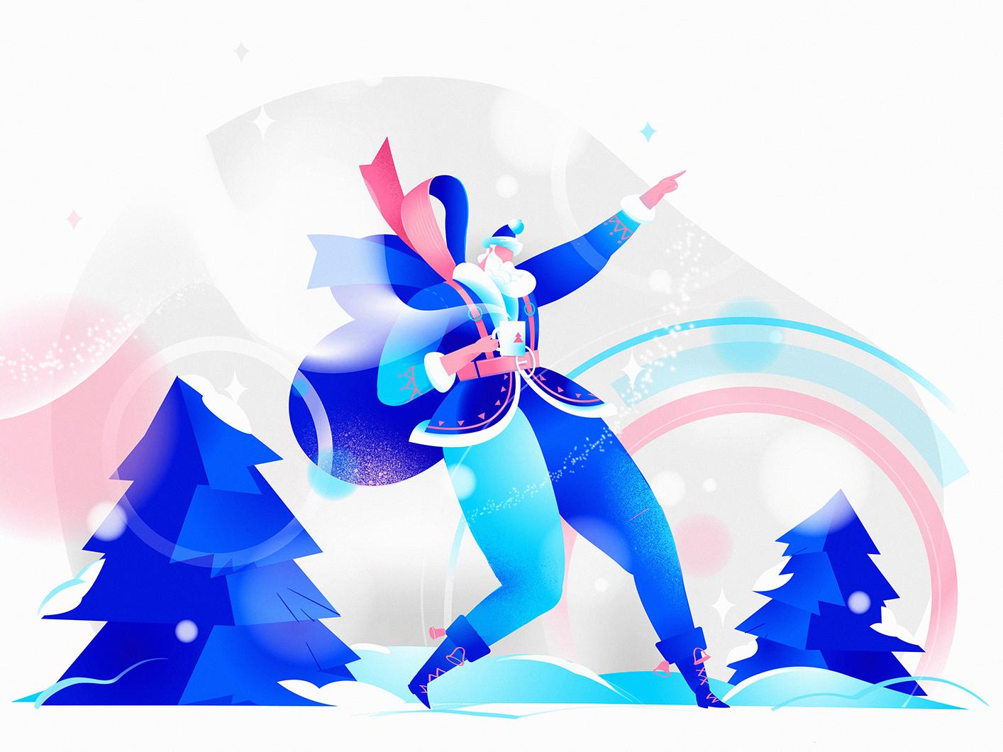Santa Cool wow hurca yeah xmas card snow christmas cool colors faxhion glam cool santa claus