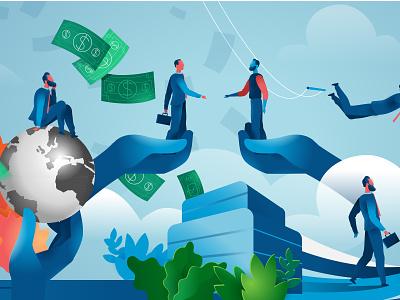 Millenials Salesforce hurca team risk deal challenge salesforce society business vectorama