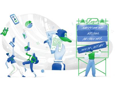 Fan Data Flow wow hurca stats insights marketing social campaign big data followers campaign sport basket