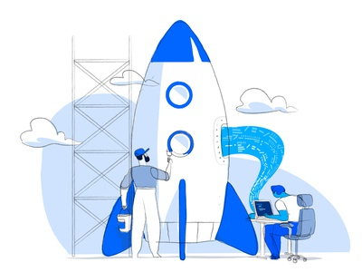 Digital Startup is Ready to Launch streamline wow hurca development coding mission launch rocket innovation agency digital startup