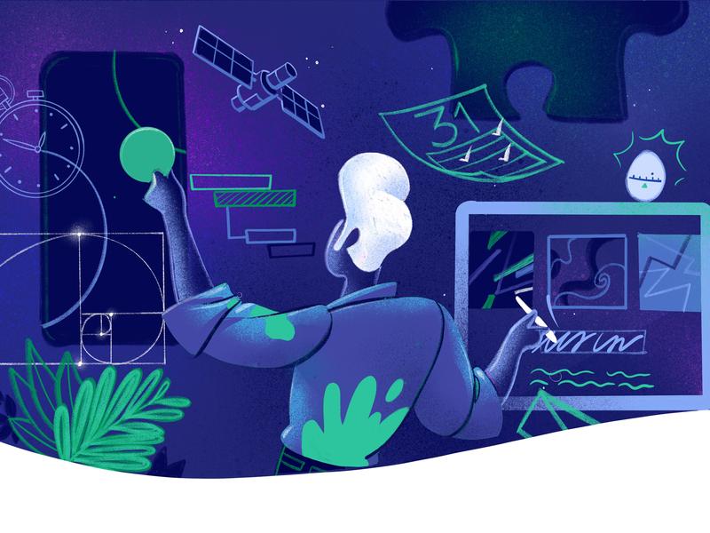 Portfolio Building wow ux lifestyle imagination hurca time management creativity creative process designer illustrator artist