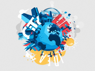 A Chaotic Planet rotation idea society world planet earth chaos style city life words