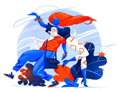 The First Day of Our Future hurca cool creative lifestyle illustration character together dance young couple