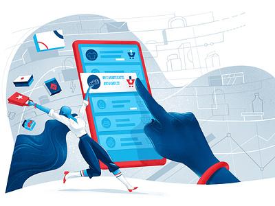 Secure Shopping joy illustration purchase fashion mobile app ecommerce shop shop