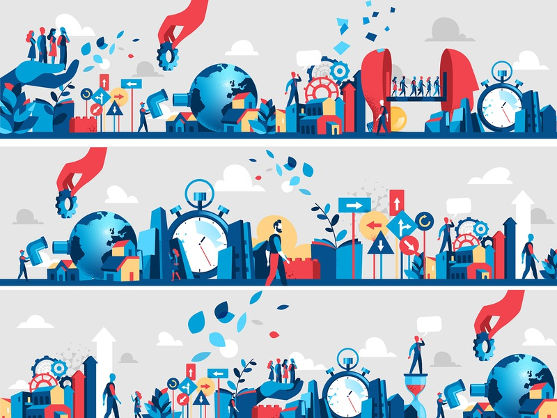 Innovation Storybox Series hurca lifestyle people society panorama storytelling vector downtown city
