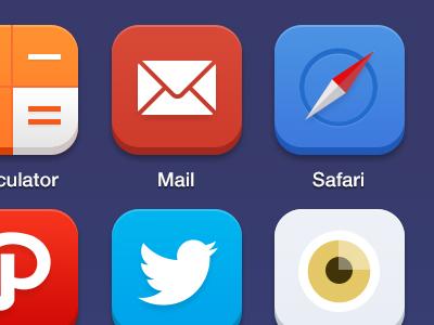 iOS 7 - Custom Icon Pack ios7 icons iphone safari mail twitter vscocam path iconforfun