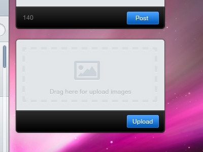 Twitter Client App  drag upload ui tutorial photoshop app