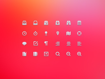icon Set book box icon glyph vector photoshop detail resource 16px 32px icons pixel set psd pin chat search map