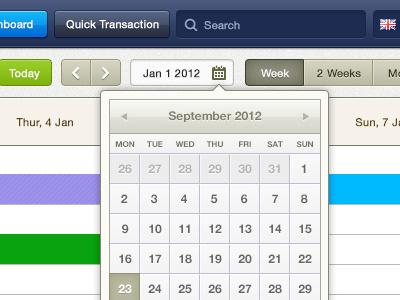 Bananadesk calendar button feedback ui ux timeline todolist popup icon glyph