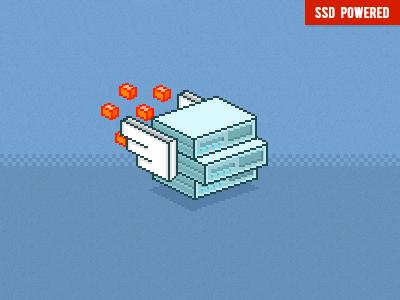 SSD VPS PIXEL pixel icon illustration style ssd vps server ui interface 8bit pixelart