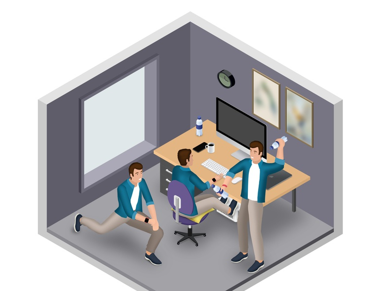 Working from home infographic - staying healthy