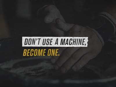 Don't use a machine - KTL
