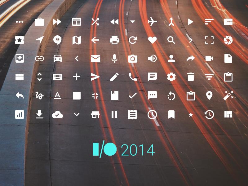 Google icons 2014io