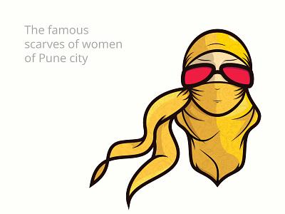 Scarf vector illustration sokratus fun pune india culture