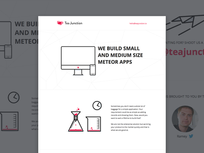 Tea Junction Landing Page landing page home page meteor neat clean modern white space illustration icons sokratus
