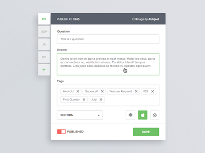 Overlay snippet publish hover modern ui flat green clean snippet overlay
