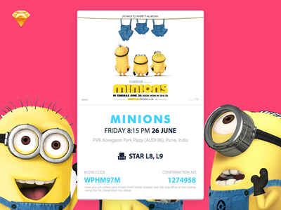 Movie Card - Minions! download file free sketch sokratus show movie flat card minions ui