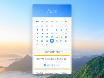 Calendar UI screen app download free sketch germany nomad travel calendar challenges ui