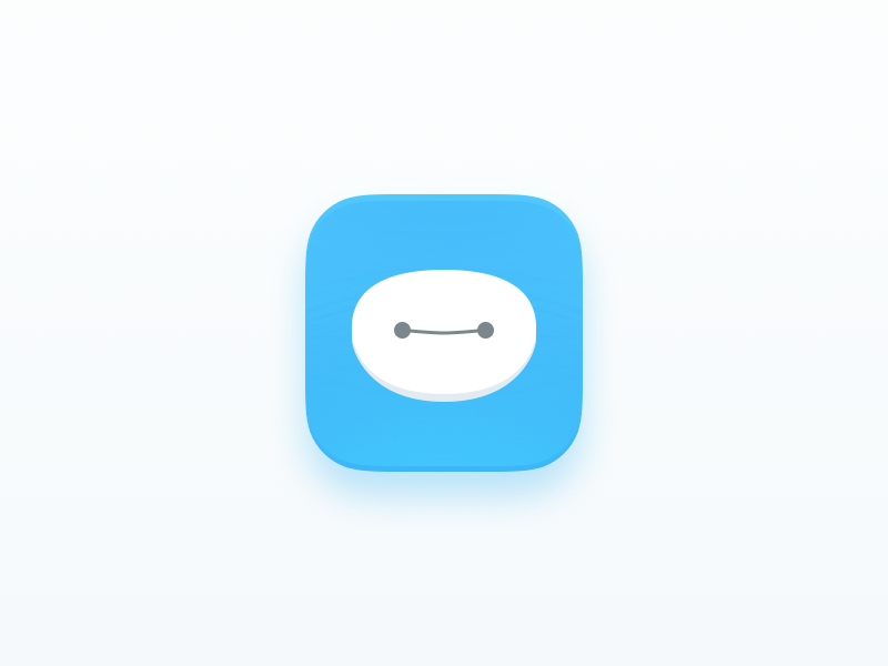 Baymax App icon sketch clean app icon baymax challenges ui