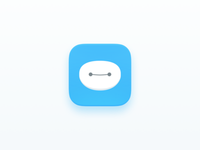 Baymax App icon sketch clean app icon baymax challenges ui