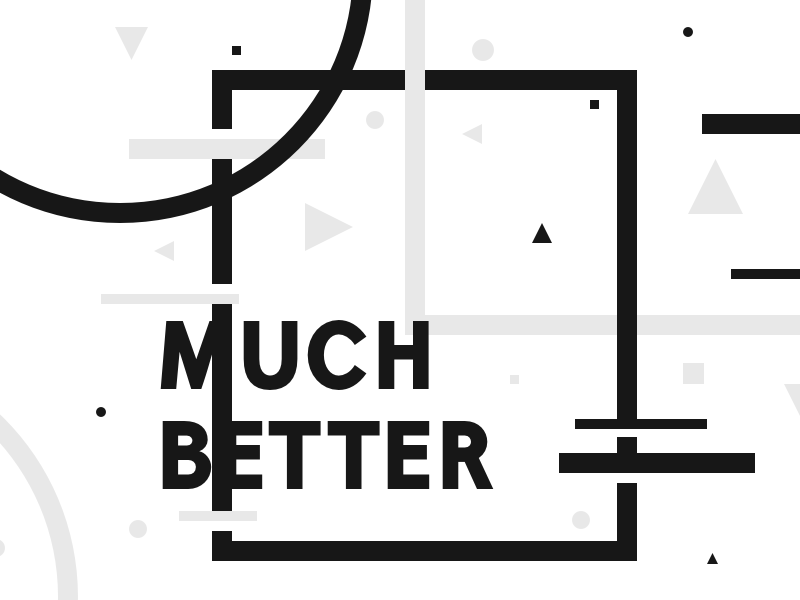 Better indeed shapes poster typography