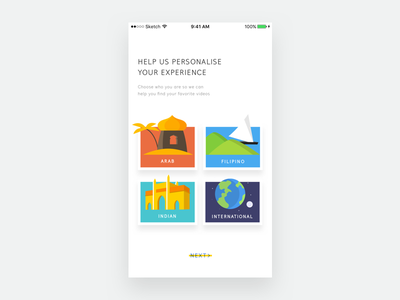 Onboarding Exploration india viu video onboarding ux ui illustration