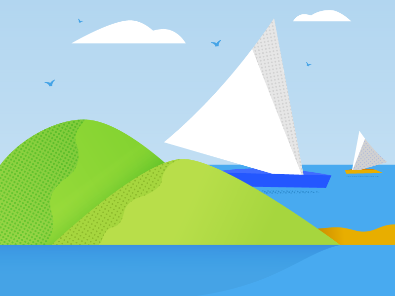 Onboarding Illustration viu boats beauty sea philippines illustration