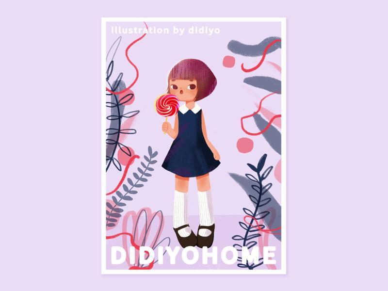The summer wind 02 草图 ui 的的的photoshop 插图,开始 设计 女孩 插图