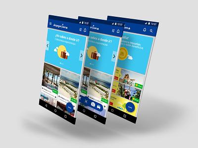 Ejercicio Despegar app button fab travel design uiux