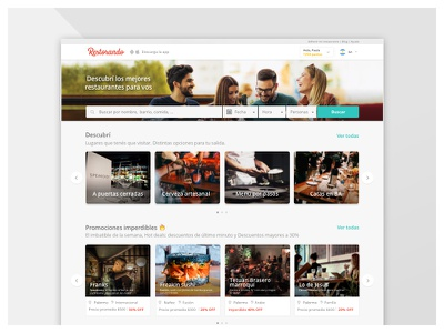 Discovery Home Restorando discovery ux ui desktop home
