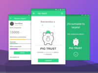 Pig Trust - Save money android gamification save money ui ux design finance app