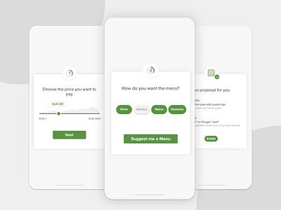 Suggest menu! ios breadcrumb ui design restaurant app app restaurant menu