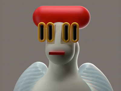 weIRDO 2 blink redshift animation character modelling 3d illustration 3d rendering