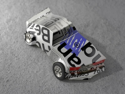 Oltcit redshift 3d illustration rendering c4d deformed weird car