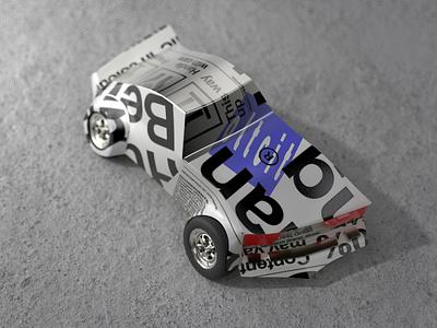 Oltcit redshift 3d illustration rendering c4d deformed weird car