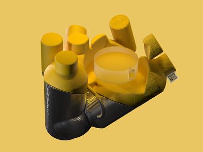 Abstract product brutalism 3d illustration illustration modelling 3d rendering