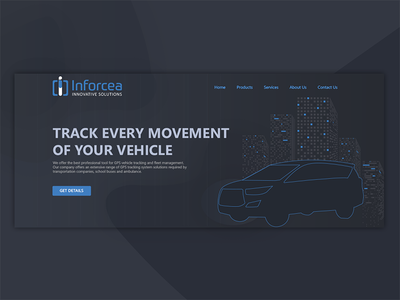 iFleet GPS tracking system landing page  concept
