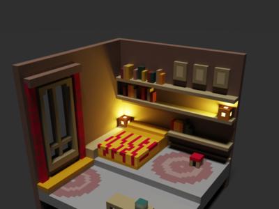 3D Pixel Room