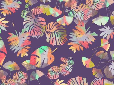 Folium Colorê Pattern tropical flora colors colorful pattern flowers plants foliage