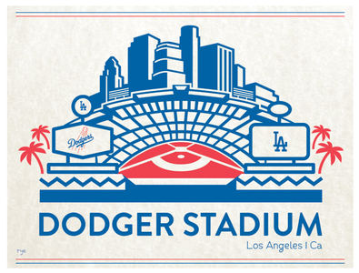 Dodger Stadium art los angeles logodesign logo typography graphic  design illustration branding vector design
