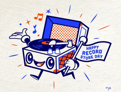 Record Store Day art character art logo character design typography graphic  design branding illustration vector design