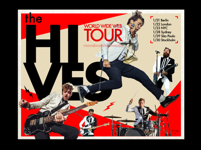 The Hives graphic graphics poster design layout music typography branding graphic  design design