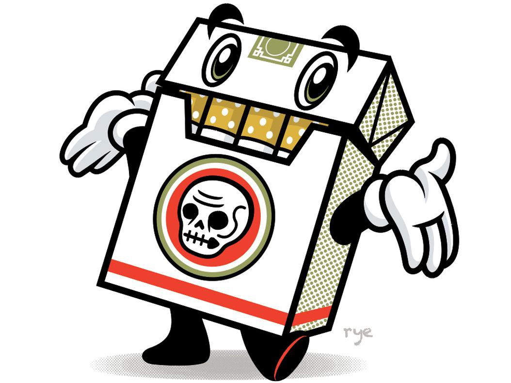 Unlucky Strikes cancer cigarettes smoking retro mascot logo mascot design mascot art logo character art graphic  design character design branding vector illustration design
