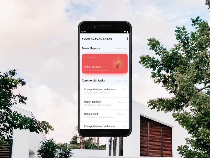 Redesign of the housing service App